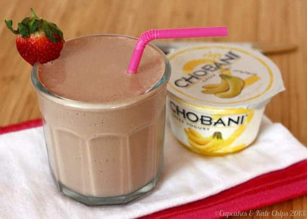 Banana Chobani Funky Monkey Smoothie