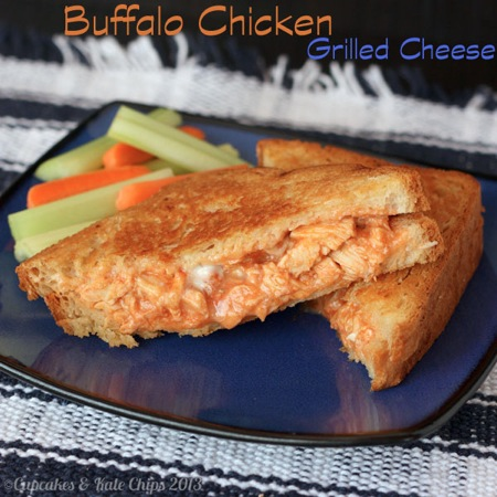 Buffalo Chicken Grilled Cheese | cupcakesandkalechips.com | grilled cheese | gluten free | sandwiches