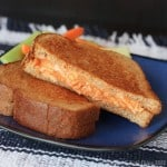 Buffalo Chicken Grilled Cheese on @RudisGlutenFree Soft & Fluffy Bread (#glutenfree)