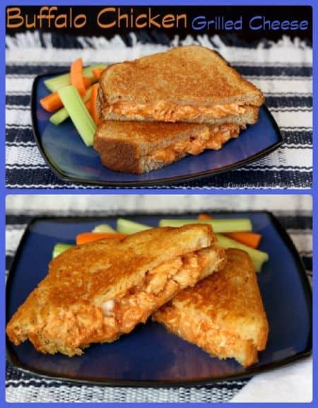 Buffalo Chicken Grilled Cheese | cupcakesandkalechips.com | grilled cheese | gluten free | sandwiches option