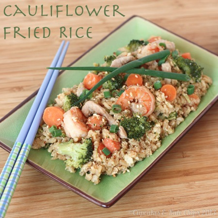 Cauliflower Fried Rice | cupcakesandkalechips.com