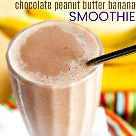 Funky Monkey Healthy Chocolate Peanut Butter Banana Smoothie Recipe
