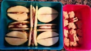 Apple Banana Chocolate Peanut butter cookie dough sandwiches and bunnies 3-15-13