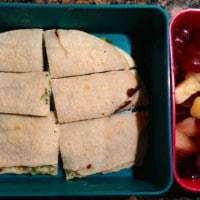 Broc cheese quesadilla fruit Wed 3-6