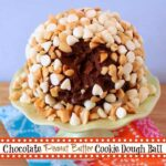 Chocolate Peanut Butter Cookie Dough Ball {#glutenfree #grainfree}