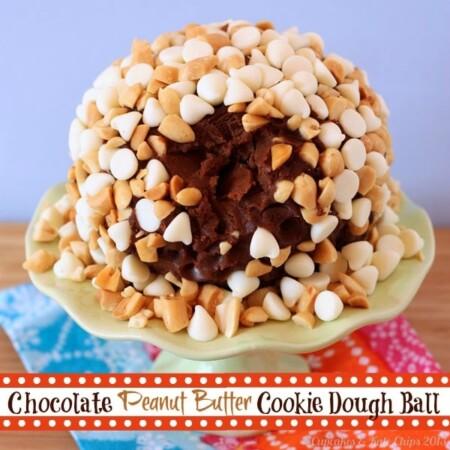 Chocolate Peanut Butter Cookie Dough Ball