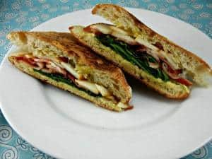 Make a panini at home! Bacon, Pear & Smoked Gouda Panini. Recipe created by The Tasty Fork