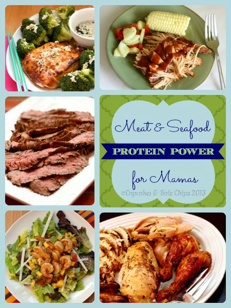 Meat and Seafood Protein Power for Mamas Collage