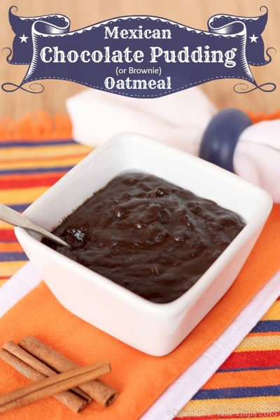Mexican Chocolate Pudding (or Brownie) Oatmeal - a healthy but decadent breakfast with a creamy texture, chocolaty flavor & the kick of spices   cupcakesandkalechips.com #oatmeal #chocolate #breakfast #glutenfree #vegan