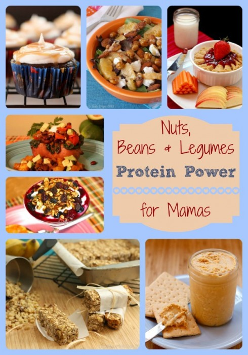 Nuts Beans Legumes Protein Power Collage