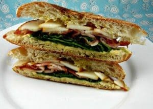 #Panini #recipe Bacon, Pear & Smoked Gouda Panini. Recipe created by The Tasty Fork