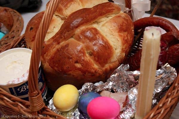Paska Ukranian Easter Bread Basket