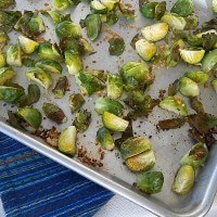 Roasted Brussels Sprouts with Garlic and Lime