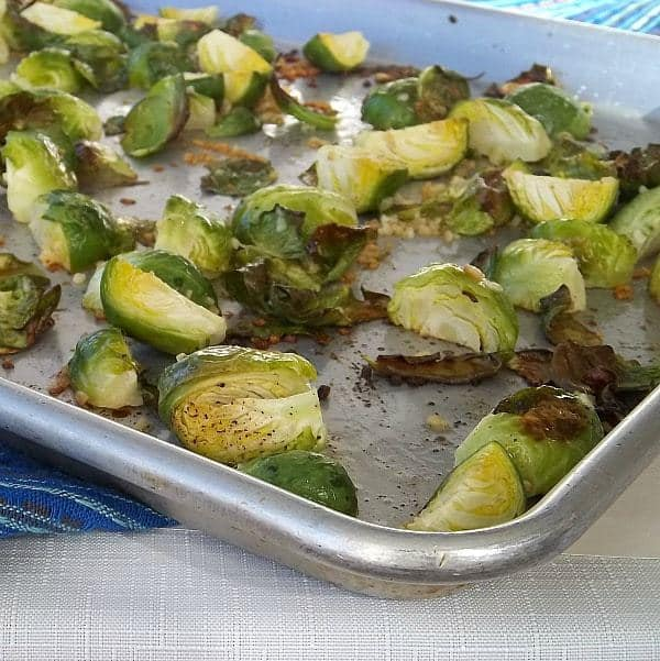 Roasted Brussels Sprouts with Lime and garlic