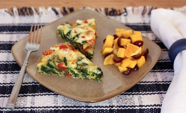 Spinach Tomato and Feta Frittata