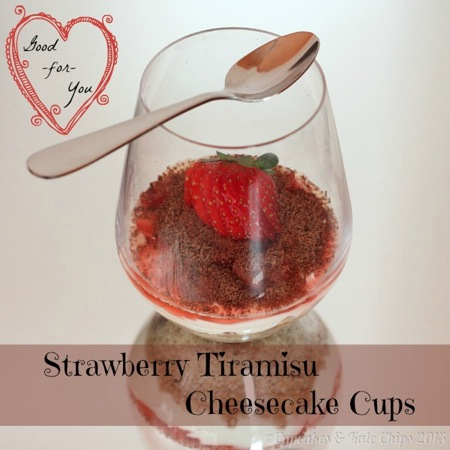 Good-for-You Strawberry Tiramisu Cheesecake Cups | cupcakesandkalechips.com | #glutenfree #grainfree #nobake