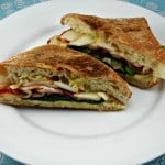 This easy panini is filled with crispy bacon, sliced pear, and gooey gouda cheese.