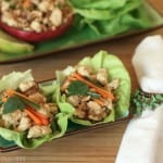Thai Larb Chicken Lettuce Cups for #SundaySupper & @SteamyKitchen #Giveaway