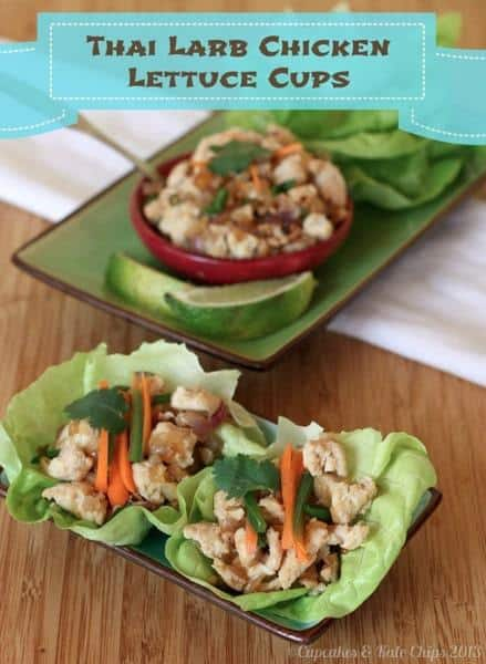 Thai Larb Chicken Lettuce Cups