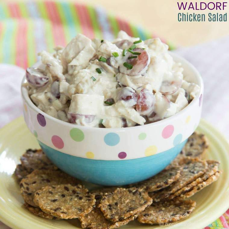 Waldorf Chicken Salad with Grapes and Walnuts