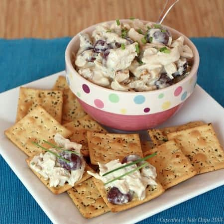 Waldorf Chicken Salad with crackers