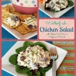 Waldorf-ish Chicken Salad with @Chobani 0% Pear & @CAWalnuts