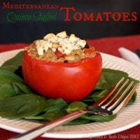 Mediterranean Quinoa Stuffed Tomatoes Cupcakes and Kale Chips title 2