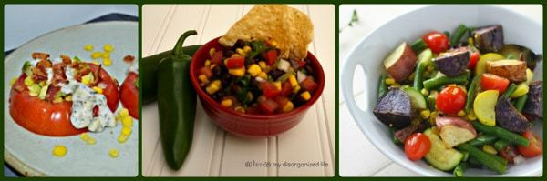 Best of Both Corn Tomatoes Collage
