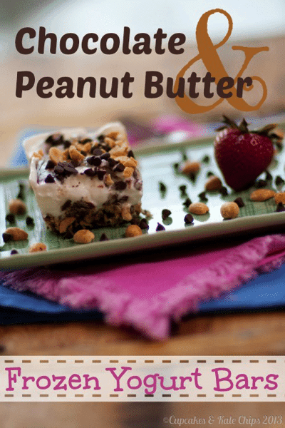Chocolate Peanut Butter Frozen Yogurt Bars {#glutenfree} - a sweet ...