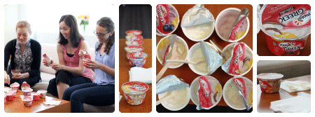 Yoplait taste test Collage