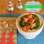 BBQ Shrimp, Broccoli & Cheesy Quinoa Bowls for #WeekdaySupper