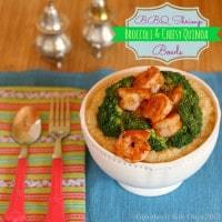 BBQ Shrimp Broccoli and Cheesy Quinoa 4 title