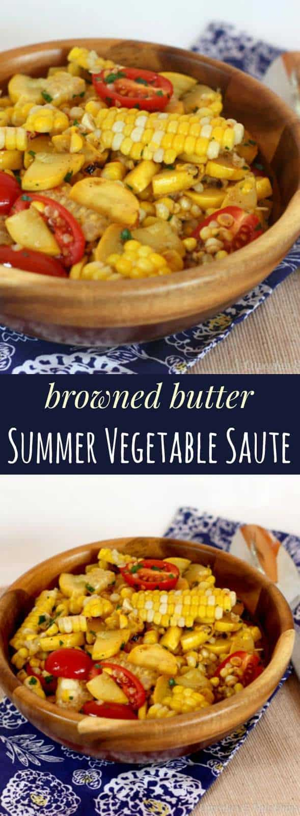 Browned Butter Summer Vegetable Saute - fresh veggies with just enough browned butter for a nutty, rich flavor. Gluten free. | cupcakesandkalechips.com