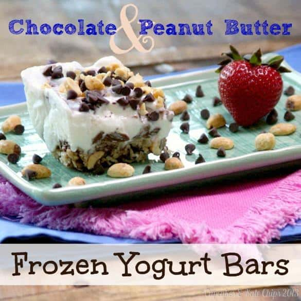 Chocolate Peanut Butter Frozen Yogurt Bars - Cupcakes & Kale Chips