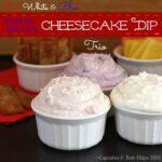 Red, White, and Blue Greek Yogurt Cheesecake Dips