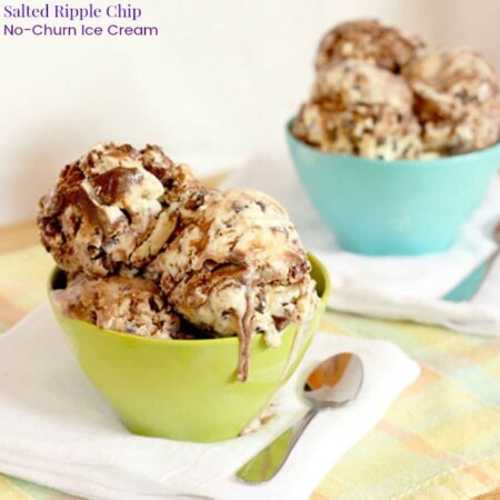 Salted Ripple Chip No-Churn Ice Cream