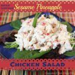 Asian-Inspired Sesame Pineapple Chicken Salad 4 title