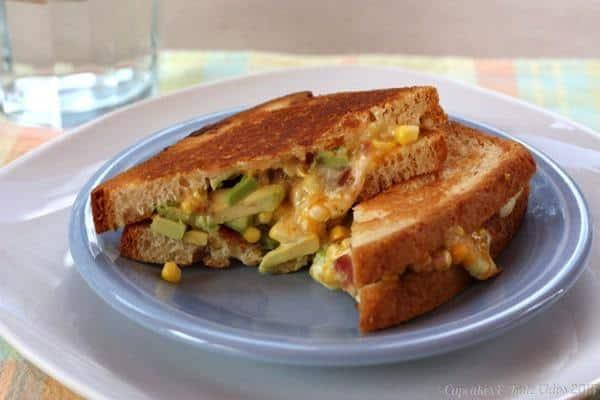 The Bug's Ultimate Bacon, Corn & Avocado Grilled Cheese | cupcakesandkalechips.com | #grilledcheese #bacon #avocado #glutenfree