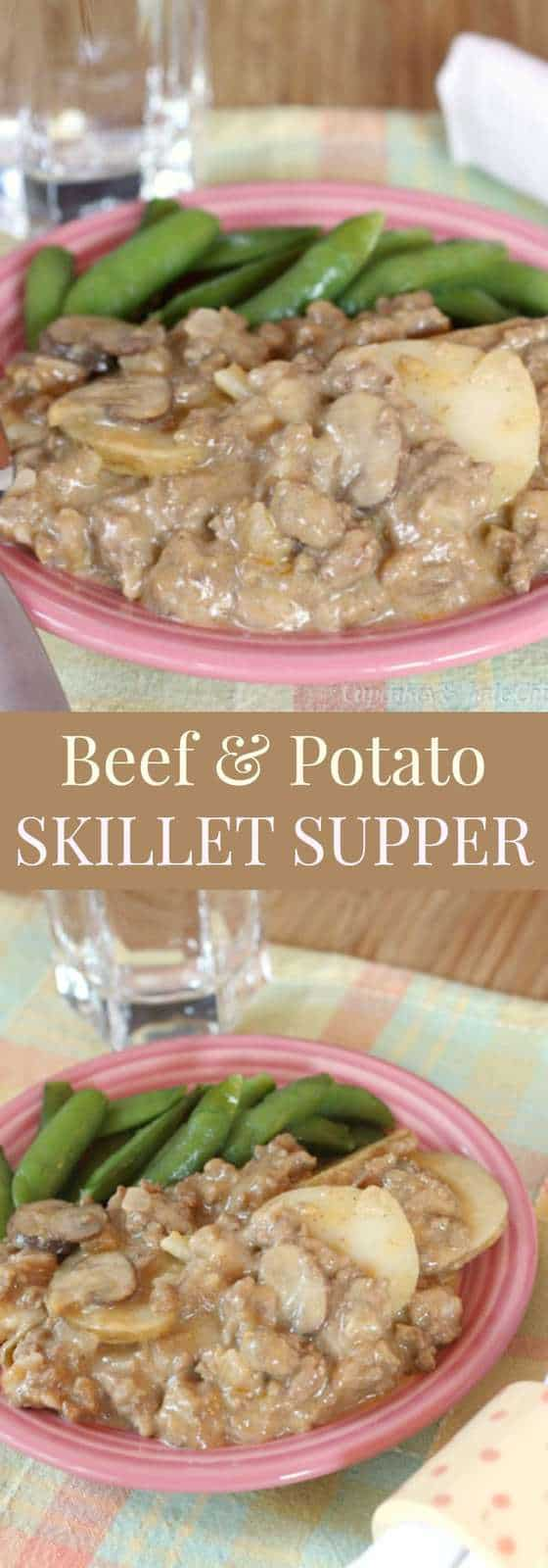 Beef and Potato Skillet Supper - a childhood favorite recipe reinvented with fresh ingredient and no canned cream soup | cupcakesandkalechips.com | gluten free