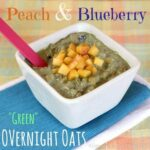 "Peach & Blueberry ""Green"" Overnight Oats"