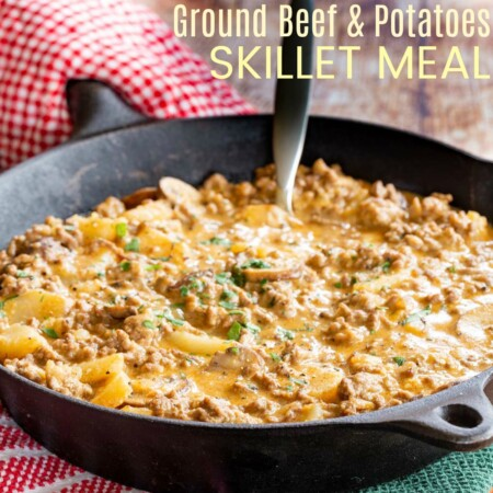 Skillet Ground Beef and Potatoes Recipe Featured Image