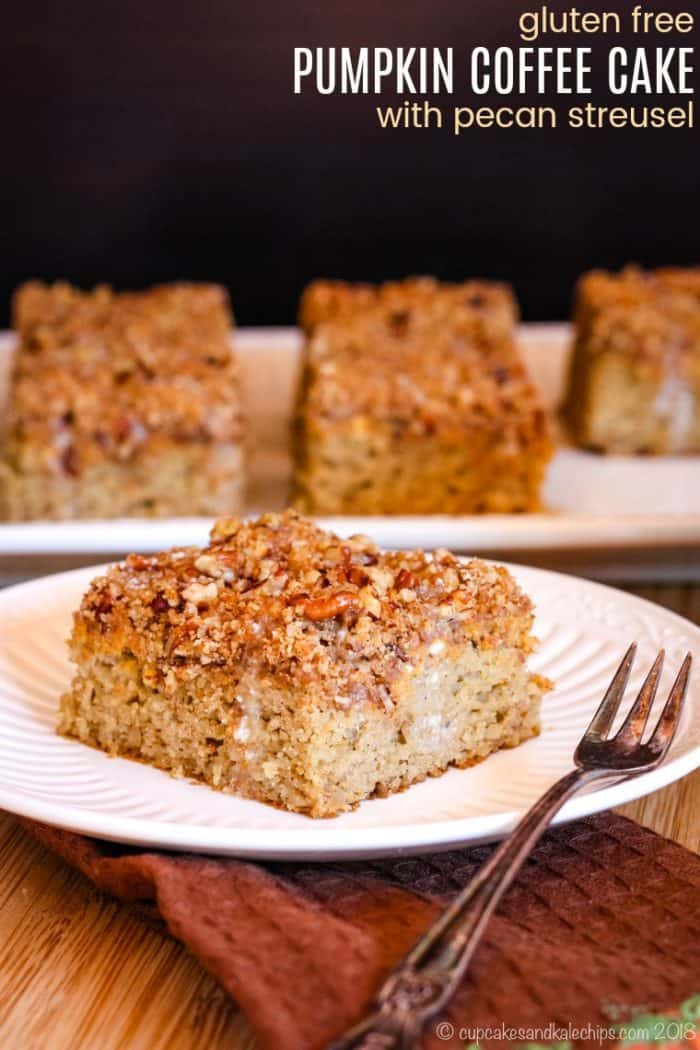 Gluten Free Pumpkin Coffee Cake with Pecan Streusel Recipe