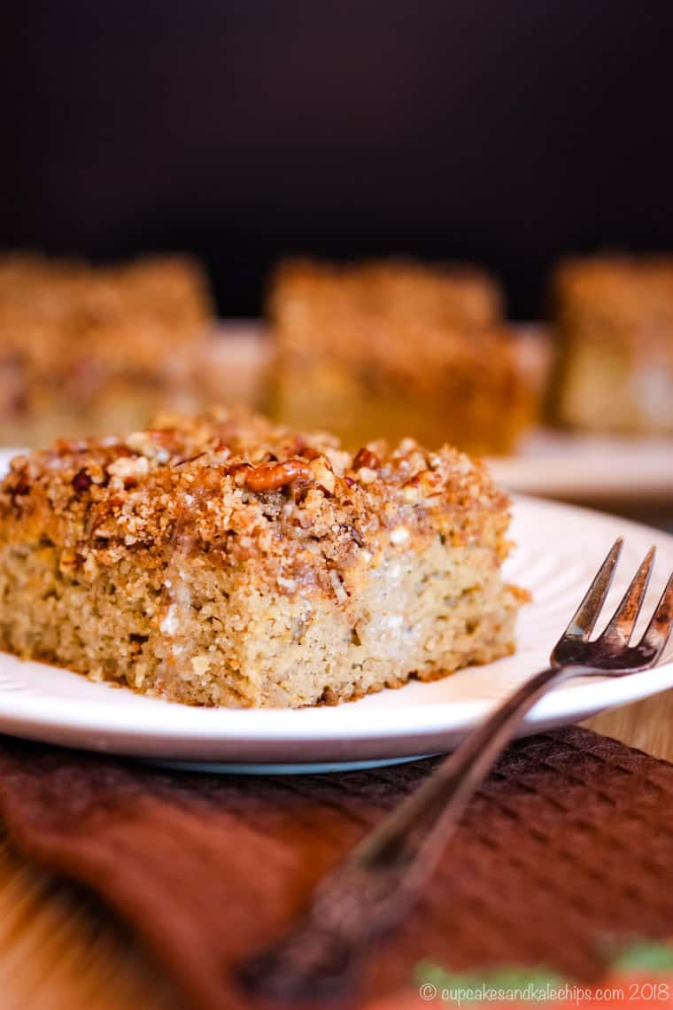 Gluten Free Pumpkin Coffee Cake with Pecan Streusel for breakfast