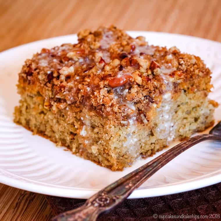 Gluten Free Pumpkin Coffee Cake with Pecan Streusel