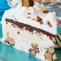 No-Churn Reese's Peanut Butter Cup Ice Cream Cake