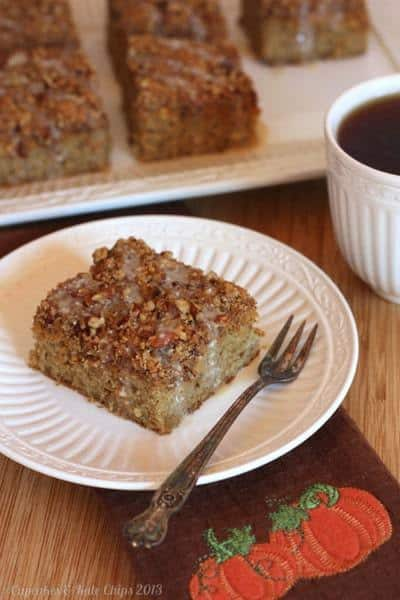Pumpkin Swirl Pecan Crumb Cake - one of the best gluten-free pumpkin recipes for brunch or dessert!