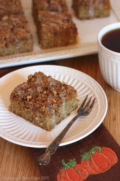Gluten-Free Pumpkin Swirl Pecan Crumb Cake   cupcakessndkalechips.com   #glutenfree #pumpkin #crumbcake #breakfast