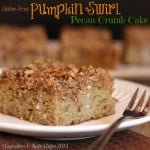 {#glutenfree} Pumpkin Swirl Pecan Crumb Cake for #SundaySupper Fall Foods