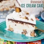 Peanut Butter Cup No-Churn Ice Cream Cake