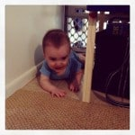 Baby Smiles Stuck